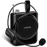xiaokoa amplificatore vocale portatile con 2.4G Wireless (40, Auricolari E Microfono portatile 2in 1), lettore MP3, Radio FM, ad alta fedeltà, di alta qualità, completamente in metallo Shell, Full Piano Pesce, tocco delicato, invecchiamento, non sbiadisce E Non scrtch prova (N201)