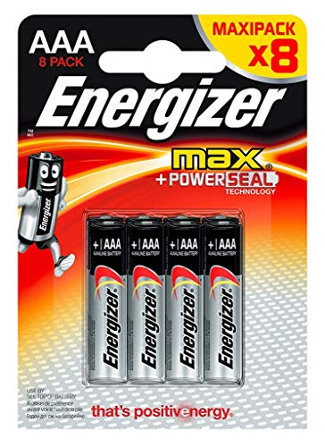 Energizer Max Powerseal 8 piles 1,5V alcalines AAA (lot de 2) Aaa 8 Energizer