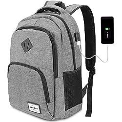 HASAGEI Mochila para Ordenador Portátil Mochilas de Hombre con USB Puerto de Carga para Escolar Negocio Viajes Trabajo-35L