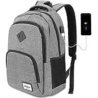 AUGUR Laptop Rucksack 12-16 zoll (12 Farben),Business Rucksack Schulrucksack Daypack Reiserucksack mit USB-Ladeanschluss, Wasserdichte Rucksack Unisex für Arbeit Schule