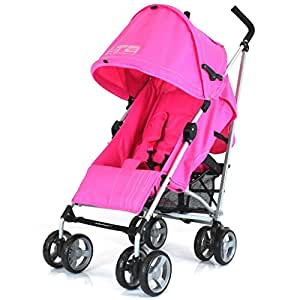 ZeTa Vooom Stroller Buggy Pushchair (Many Colours Available) Inc Raincover (Pink)