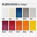 Bezug für Kissen Tempur Ombracio. 10 Farben wählbar - Jersey 100% Baumwolle - waschbar bis 60 / 90°C, Farbe:Blau