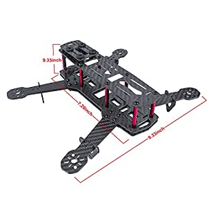 SunFounder 250mm Full Carbon Fiber FPV Mini Race Quadcopter Drone Frame Kit for QAV250