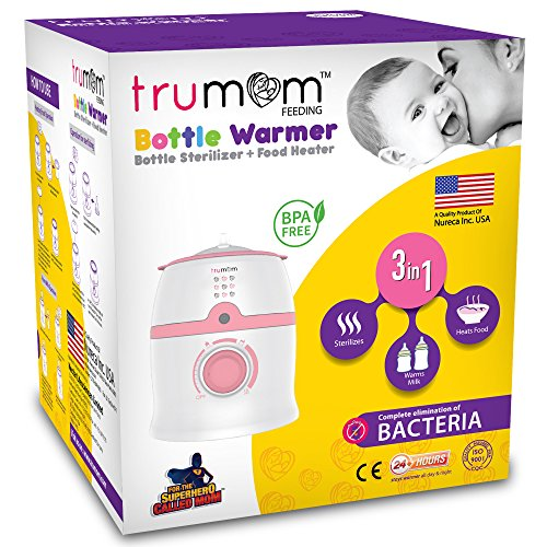 Trumom (USA) 3 in 1- Baby Bottle Warmer, Baby Food Heater and Sterilizer (Sterilizes baby bottles, teats, other feeding equipment and small toys) Mommy's best travel companion
