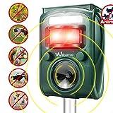 Wikomo Animal Repeller, Solar Powered Ultrasonic Pest Repeller Waterproof Outdoor with Ultrasonic Sound