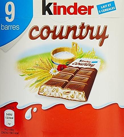 Kinder Country 9 Barres au Chocolat au Lait/Céréales 211,5 g - Lot de 7
