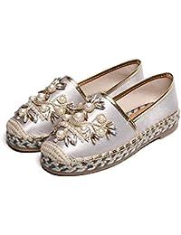 11a9d930 XINGMU Zapatos De Pescadores Mujeres De Paja Tejida De Fondo Plano  Superficial Zapatos Zapatos De Mujer