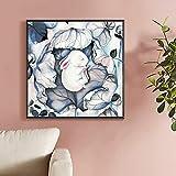 Geiqianjiumai Lapin Moderne Peinture à l'huile Toile Art Cadeau décoration de la Maison Salon Mur Art sans Cadre Peinture 60X60 cm