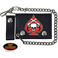 SKULL & PISTOLS, Detachable Chain & Leather Belt Loop Snap,