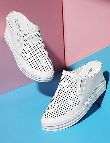 WSS 2016 Chaussures Femme-Bureau & Travail / Habillé / Décontracté / Soirée & Evénement-Blanc / Argent-Plateforme-Talons-Talons-Synthétique silver-us6 / eu36 / uk4 / cn36