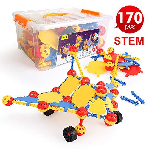 LBLA Spielzeug 8 7 6 5 4 Jahre Junge,Kreativ Bausteine für Kinder,Konstruktion Blöcke,Bauklötze,Konstruktionsspielzeug,Lernspielzeug,Geschenk für Kinder,170 PCS