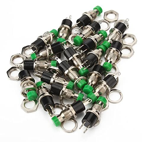DN Mini Momentary Micro On-Off Switch Green Push Button Pack of 20