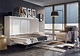 Furniture24-eu Schrankbett Concept PRO Wandklappbett - Horizontal (90x200 cm, Weiß Matt)