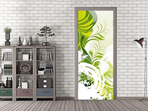 GRAZDesign 791669_92x213 Tür-Tapete Ornamente mit Blätter | Aufkleber Fürs Wohnzimmer | Tür - Klebefolie Selbstklebend (92x213cm//Cuttermesser)
