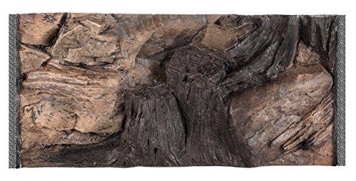 Acuami 3D Aquarium Rückwand für Aquarien bis 60x30 cm, Strukturrückwand mit 58x27cm Einbaumaß (Natürlich, Root)