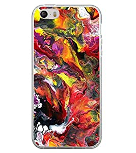 Fuson Designer Back Case Cover for Apple iPhone 4S (Paint water paint Shaded Mixed colourful)