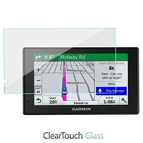 Boxwave Cleartouch Screen Protector (BoxWave Displayschutzfolie für Garmin DriveSmart 51 LMT-S (ClearTouch Glas) 9H gehärtetes Glas für Garmin DriveSmart 51 LMT-S)