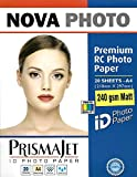 #4: NOVA Premium RC Matt Photo Paper A4 Size - 240 gsm (20 Sheets)