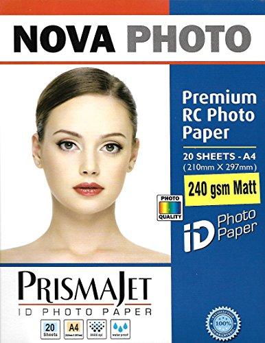 NOVA Premium RC Matt Photo Paper A4 Size - 240 gsm (20 Sheets)