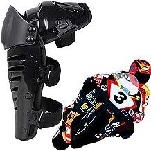 Max & Mezcla 1par Racing Enforcer adulto rodilla/espinilleras Gear Flexible ajustable transpirable rodilleras para Motocross Motocicleta Protector Body Armor–Negro/Talla única