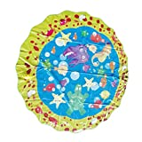 Homyl Aufblasbarer Wassersprüher Sprinkler Matte Spielmatte Wasserspielzeug für Draußen - 100 cm (39 Zoll) Durchmesser