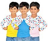 #8: Gkidz Girls Combo Of 3 Graphic Cotton Vest And Shrug Pack of 3 (GIRLS-3PCK-VEST-CMB-6_ Multicolor)