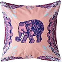 Coolsummer Elephant Pattern Vintage Stampa Digitale quadrato Throw Pillow Cover cuscino decorativo federa Cuscino Custodia (Roll Top Home Office)