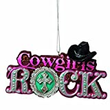 Best Midwest Christmas Trees - Cowgirls Rock Cowgril Hat Pink Resin Stone Christmas Review