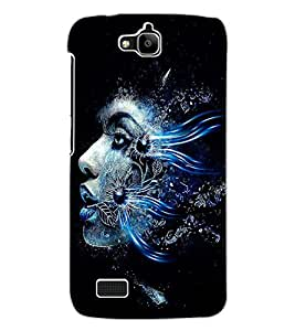 ColourCraft Creative Face Design Back Case Cover for HUAWEI HONOR HOLLY