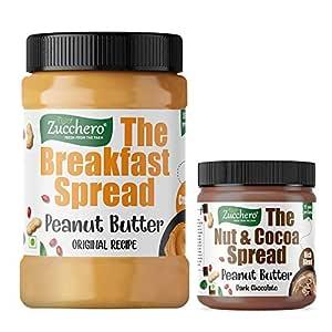Zucchero Original Recipe Peanut Butter, Crunchy, 1 kg