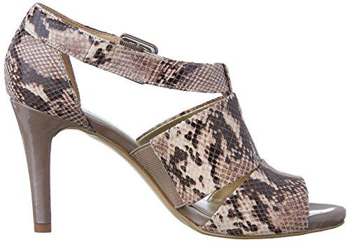 Anne Klein Ouray Schlangenleder Leder Sandale Dark Taupe