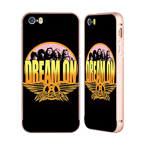 Ufficiale Aerosmith Loud Proud Arte Da Poster 3 Oro Cover Contorno con Bumper in Alluminio per Apple iPhone 5 / 5s / SE Dream On