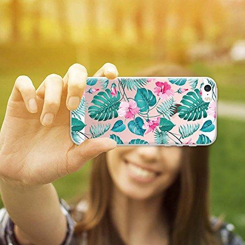 iPhone SE iPhone 5 5S Hülle, WoowCase® [ Hybrid ] Handyhülle PC + Silikon für [ iPhone SE iPhone 5 5S ] Wolf-Fußabdruck Sammlung Tierentwürfe Handytasche Handy Cover Case Schutzhülle - Transparent Hybrid Hülle iPhone SE iPhone 5 5S D0310