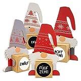 itenga Calendrier de l'Avent à remplir avec 24 figurines de lutin à poser avec boîtes à remplir soi-même + autocollants avec chiffres
