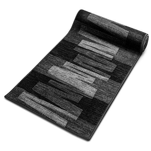 Floordirekt Läufer Teppich Brücke Teppichläufer Veneto 67 cm breit anthrazit grau (67 x 150 cm)