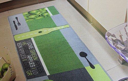 Andiamo Teppichläufer Küchenläufer 67 x 200 cm vers. Farben/Motive (Grün)