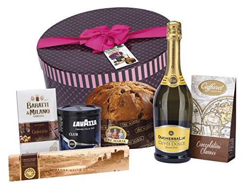 """Geschenkkörbe Italienisch """"Süßigkeiten Italienische Güte in Paket Weihnachtsgeschenk - Insgesamt 7 Teile"""" Mit Gourmet Italienischen Spezialitäten fur Weihnachten - Geschenkkorb Italienisch (Code N145)"""