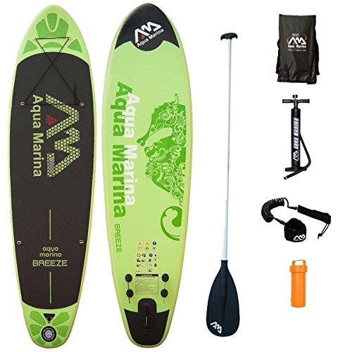 AQUA MARINA, BREEZE+ALU-Paddle+LEASH, Paddle Board, SUP, 300x75x10 cm