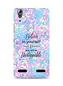 AMEZ believe in yourself and you will be unstoppable Back Cover For Lenovo A6000