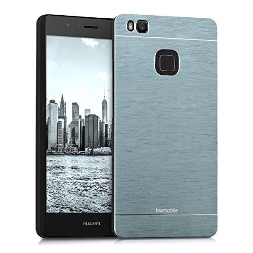 kwmobile Custodia rigida di gran pregio per > Huawei P9 Lite < con dorso rinforzato in alluminio spazzolato, colore antracite