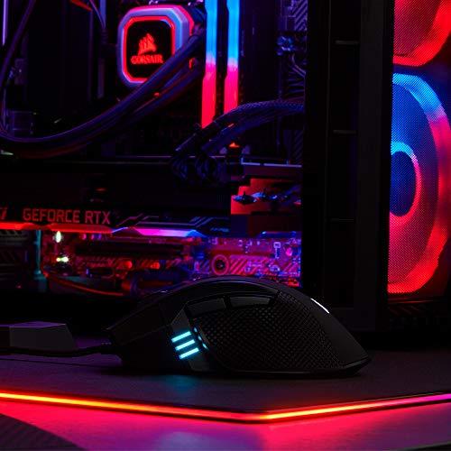 Corsair Ironclaw RGB Optisch FPS/MOBA Gaming Maus (18.000DPI Optischer Sensor, RGB LED Hintergrundbeleuchtung) schwarz