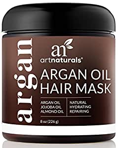 Artnaturals Argan Oil Hair Mask Deep Conditioner 8 Oz, For Repair Dry Damaged Or Color Treated Hair After Shampoo - Sulfate Free