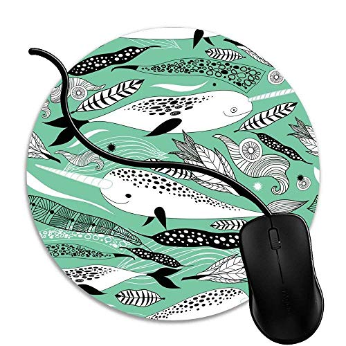 Alfombrilla de Ratón de Juego,Mouse Pad Mat Tela Base de Caucho Compatible con Ratón Láser y óptico Negro Narvales 1V103