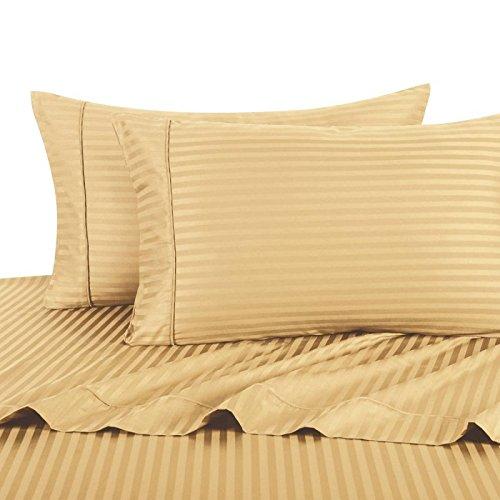 Neue Fadendichte 300 ägyptische Baumwolle-Kissenbezug, 300TC, 100% Baumwolle, gestreift, goldfarben