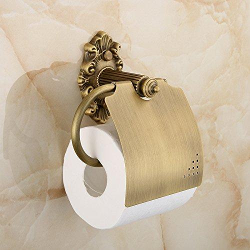 QUEEN'S Kreative Toilettenpapier Rack Wandmontage,Antike Rustikale Vintage Tissue Box Toilettenpapierhalter Messing Handtuchhalter Badezimmer Hardware Zubehör,WC Papierhalter