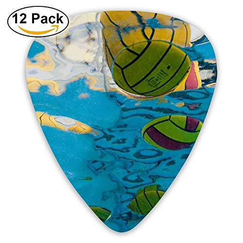 Yellow Water Polo Classic Guitar Pick (12 Pack) for Electric Guita Bass -