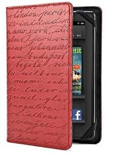 Verso - Artist Cities Red - Étui pour Kindle Fire - Rouge (est compatible avec Kindle Fire uniquement)