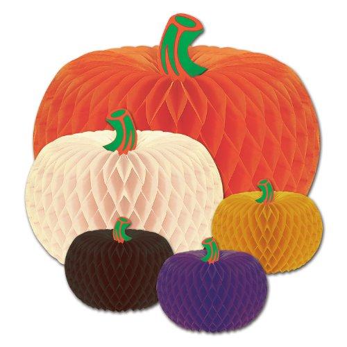 Beistle Packaged Designer Tissue Pumpkins, Assorted by Beistle