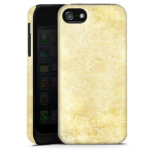 Apple iPhone 5s Housse Étui Protection Coque Pierre Look motif Mur Cas Tough terne