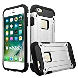 gahatoo iPhone 6 / 6s Plus Panzer Outdoor Case Hülle Ultra Slim [Hybrid TPU Silikon Hardcase] Handyhülle in Silber [Tactical Military Defender]